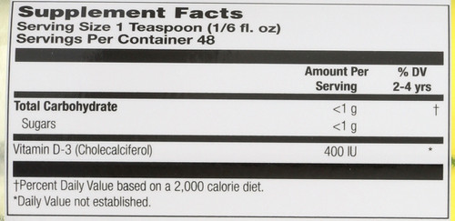 Kids Liquid Vitamin D3 Mixed Berry 8 Fl oz 237mL