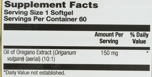 Oil Of Oregano Extract 60 Softgels