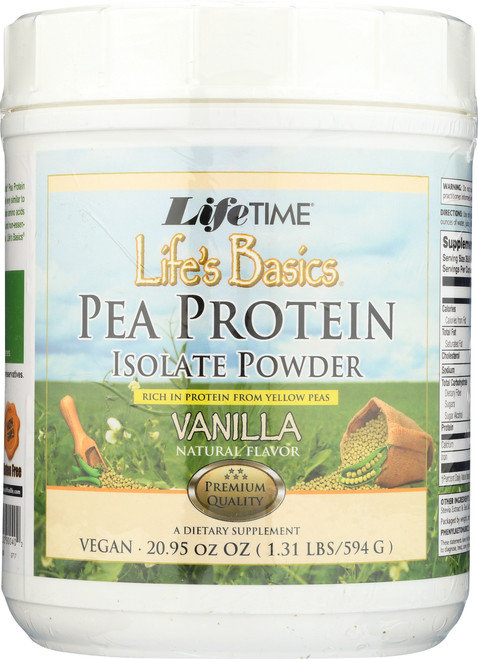 Life's Basics Pea Protein Vanilla Vanilla 20.95oz 1.31 Lb 594 G