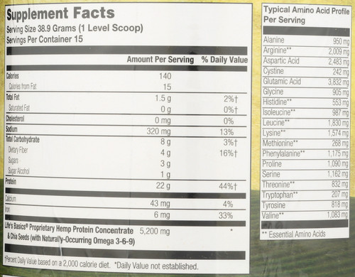 Life's Basics® Plant Protein Chocolate Chocolate 20.6oz 1.29 Lb 584 G