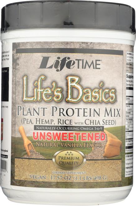 Life's Basics Plant Protein Mix Vanilla 17.57oz 1.1 Lb 498 G