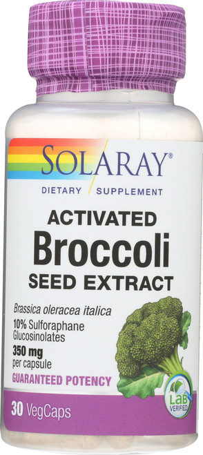 Activated Broccoli Seed Extract Brassica Oleracea Italica 30 Vegetarian Capsules 350mg