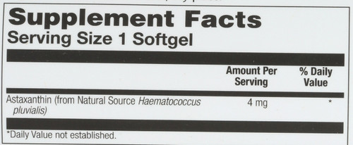 Astaxanthin 4mg 60 Softgels