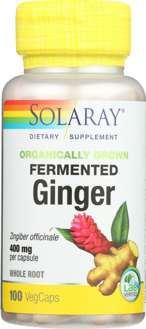 Fermented Ginger 400mg Per Capsule 100 Vegetarian Capsules