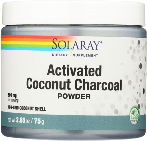 Activated Charcoal, Coconut Source Unflavored 2.65oz 75g