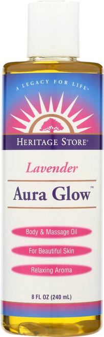 Aura Glow™ Lavender Body And Massage Oil 8 Fl oz 240mL