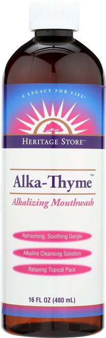 Alka-Thyme, Alkaline Mouthwash Menthol Alkalizing Mouthwash 16 Fl oz 480mL
