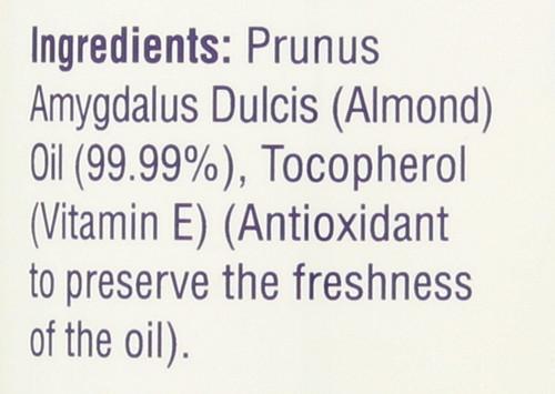 Almond Oil, Sweet w/Vitamin E Natural Moisturizer And Massage Oil 8 Fl oz 240mL