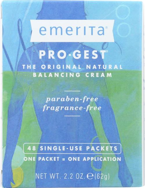 Pro-Gest Natural Balancing Cream, Single-Use 2.2oz 62g