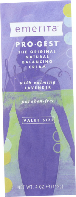 Pro-Gest Natural Balancing Cream, With Lavender 4oz 112g