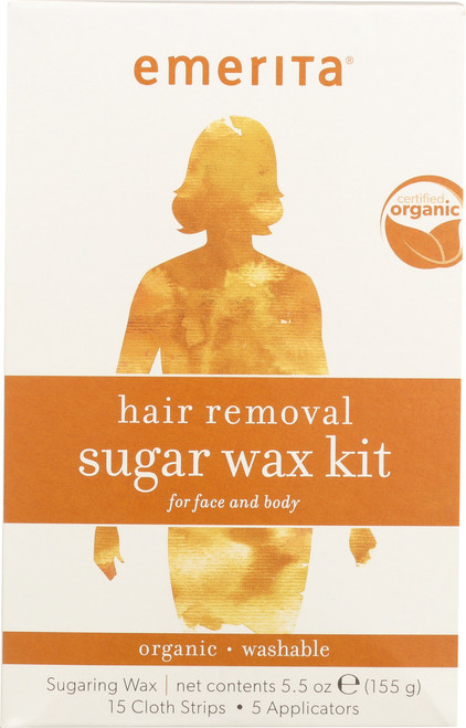 Hair Removal Sugar Wax Kit For Face And Body 5.5oz 155