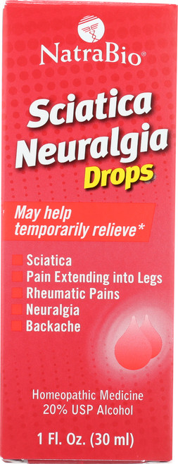 Sciatica Neuralgia Drops Unflavored 1 Fl oz 30mL