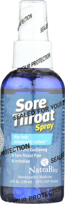 Sore Throat Spray Peppermint 4 Fl oz 120mL