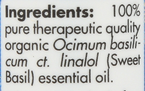 Basil Linalol Organic 0.17 Fl oz 5mL