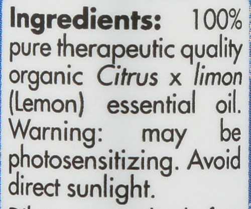 Lemon Organic 0.17 Fl oz 5mL