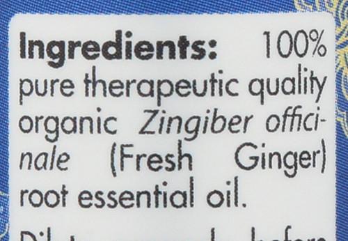 Fresh Ginger Organic Essential Oil 0.17 Fl oz 5mL
