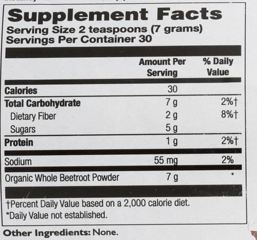 Beetroot Powder, Organic Natural 7.4oz 210g