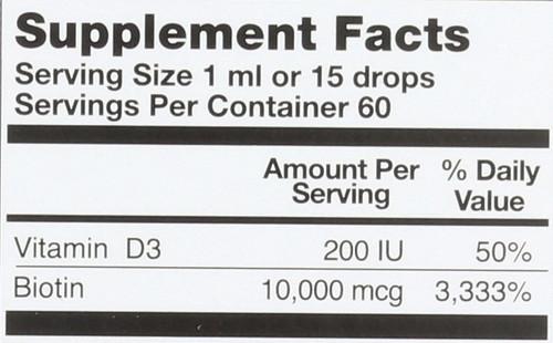 Biotin Drops 10,000Mcg 2 Fl oz 60mL