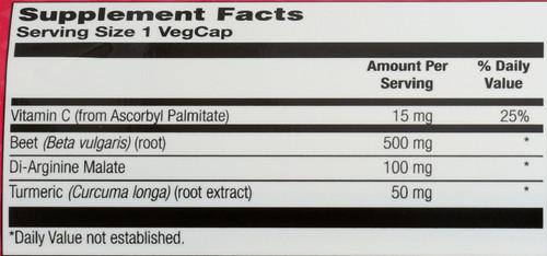 Beetroot Sport Caps Superfood Nitric Oxide Formula +Di-Arginine Malate & Turmeric 90 Vegetarian Capsules