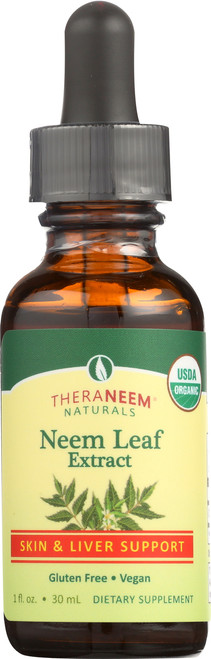 Neem Leaf Alcohol Extract 1 Fl oz 30mL