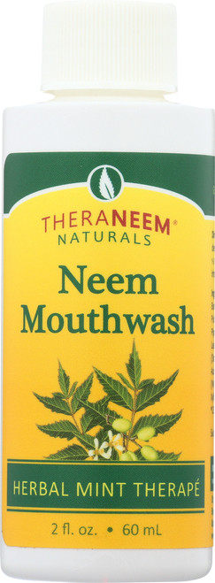 Neem Mouthwash Travel Size Mint 2 Fl oz 60mL