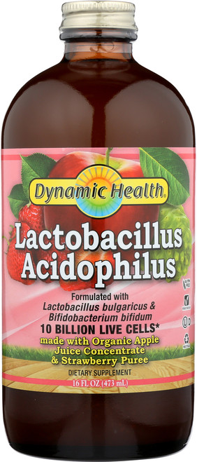 Apple Strawberry Acidophilus 16 Fl oz 473mL