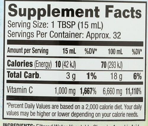 Liquid Vitamin C 16 Fl oz 473mL