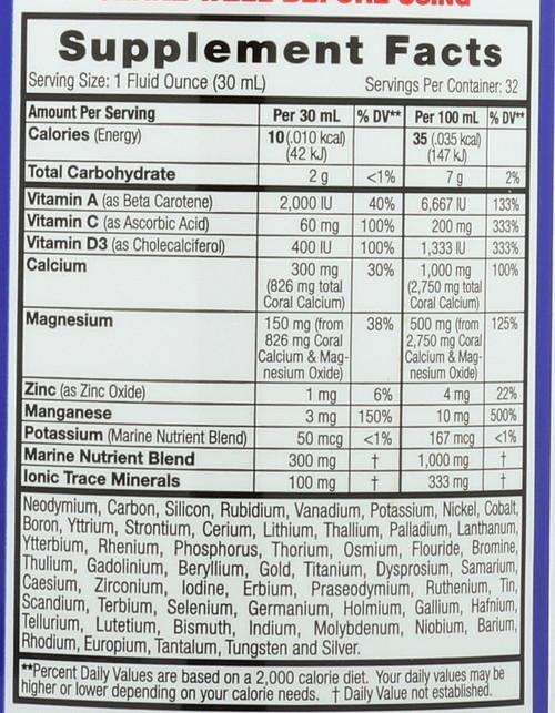 Coral Calcium Complex Orange Mango 32 Fl oz 946mL