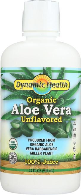Aloe Vera Juice Certified Organic Unflavored 32 Fl oz 946mL
