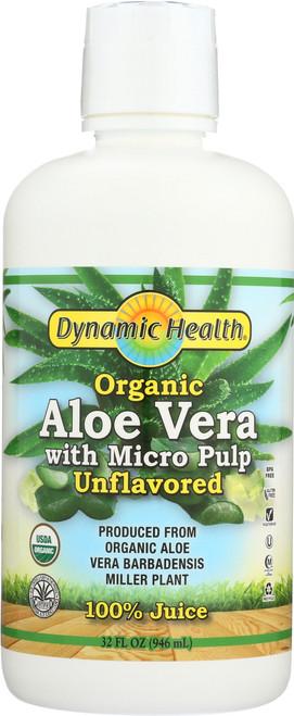 Aloe Vera Juice W Micro Pulp Certified Organic Unflavored 32 Fl oz 946mL