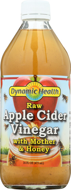 Apple Cider Vinegar W Mother & Honey 16 Fl oz 473mL