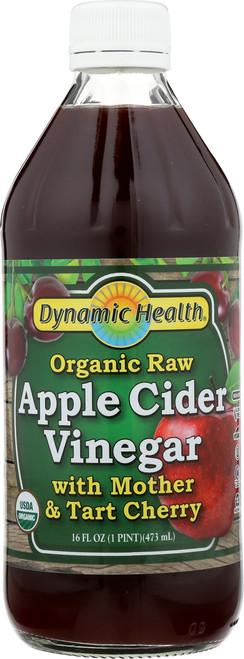 Apple Cider Vinegar W Mother & Tart Cherry Certified Organic 16 Fl oz 1 Pint 473mL