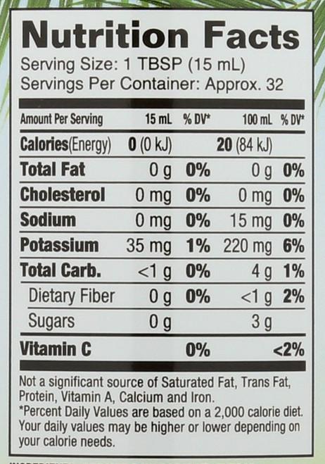 Coconut Vinegar W Mother Certified Organic 16 Fl oz 1 Pint 473mL