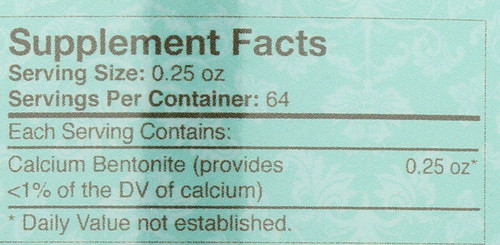 Detox Clay Powder Unflavored 16oz 454g