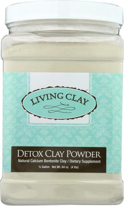 Detox Clay Powder Unflavored 0.5 Gallon 64oz 4 Lb