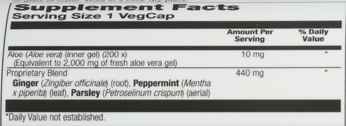 Aloe Vera Gel Gel Concentrate 100 Vegetarian Capsules