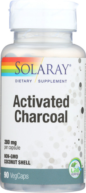 Activated Charcoal, Coconut Source 280mg 90 Vegetarian Capsules