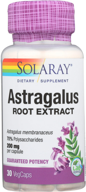 Astragalus Root Extract 200mg 30 Vegetarian Capsules