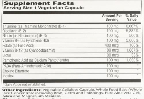 B-Complex 100 250 Vegetarian Capsules
