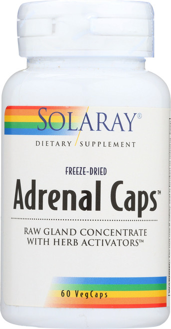 Adrenal Caps, Freeze-Dried Raw Gland Concentrate 60 Capsules