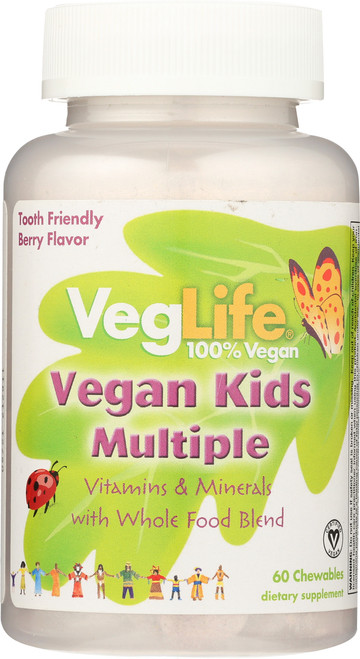 Multiple, Vegan Kids Berry 60 Chewables
