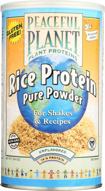 Rice Protein Pure Powder Unflavored 20.4oz 580g