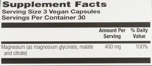 Magnesium, Vegan 90 Vegan Capsules