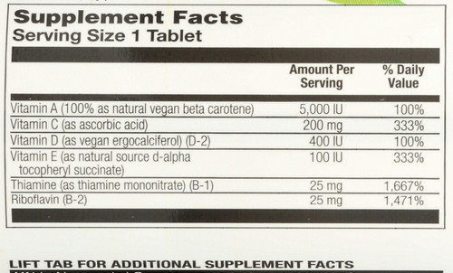 Vegan One™ Multi-Vitamin, Iron-Free 60 Tablet