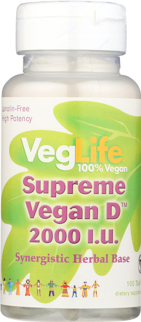 Vitamin D-2, Supreme Vegan 100 Tablet