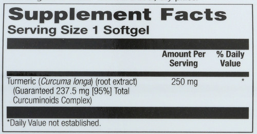 Curcumin Root Extract 30 Softgels