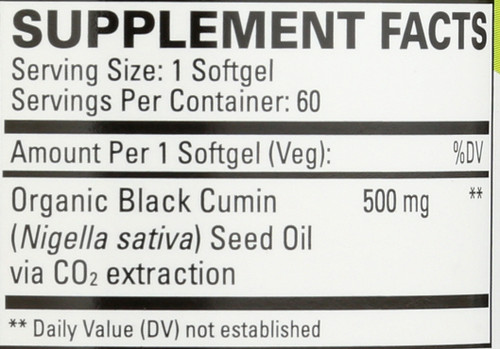 Black Seed Oil 60 Softgels