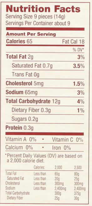 Crackers,Cracked Pepper  4.4 Ounce 125 Gram