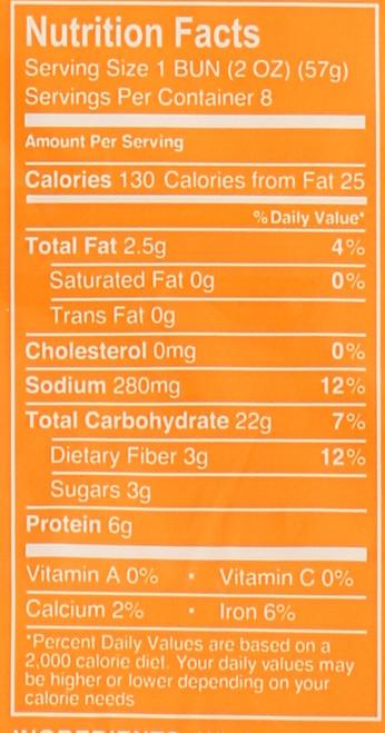 Hot Dog Buns 7 Grain 8 Count 16 Ounce