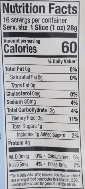 Sprouted Reduced Sodium 7-Grain Bread 16Oz 7 Grain 16 Ounce 454 Gram